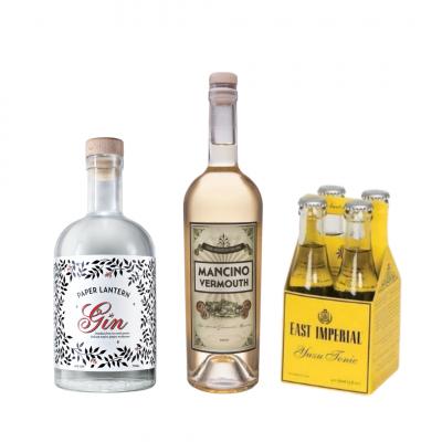 paper lantern gin gift set martini